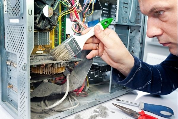 Clean the computer and fan regularly to make it quiet