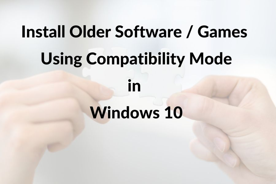 Install in compatibility mode